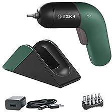 Bosch Akkuschrauber IXO (6. Generation, integrierter Akku mit Ladestation und Micro-USB-Lader, variable Drehzahlregelung, im Karton) grün©Amazon