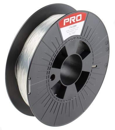 RS PRO 1.75mm Transparent 3D Printer Filament, 500g