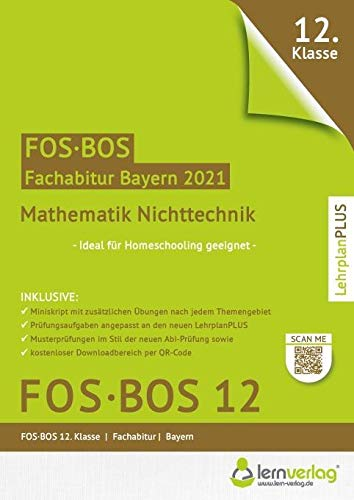 Abiturprüfung Mathematik Nichttechnik FOS/BOS Bayern 12. Klasse