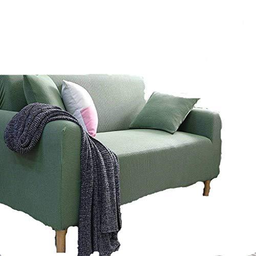 Jonist Funda de sofá de Franela Elastic Force, Todo Incluido, Protector de Muebles, Color sólido, Acogedor, Antideslizante, Asiento Individual 90-140cm-A