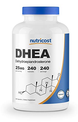 Nutricost DHEA 25mg, 240 Capsules - Gluten Free, Soy Free, Non-GMO, Supplement