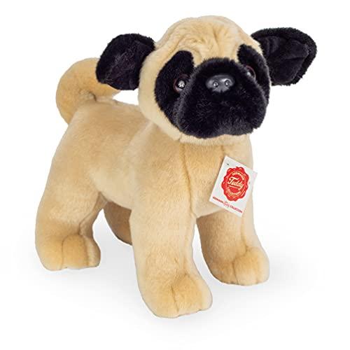 Teddy Hermann 91953 Hund Mops stehend 21 cm, Kuscheltier, Plüschtier