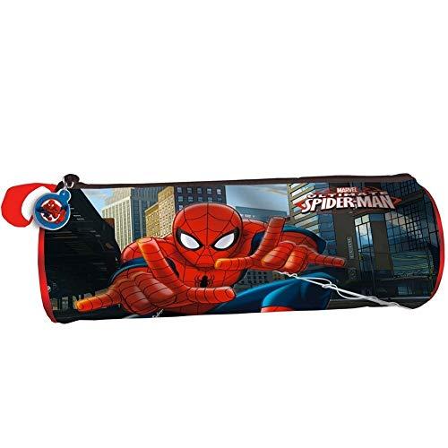 Trade Shop Traesio Astuccio Tombolino Portapastelli Spiderman Uomo Ragno, 22 cm