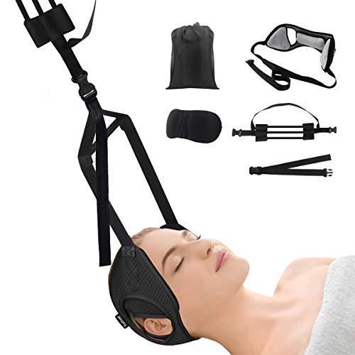 Nacken Hängematte Hals Hängematte mit Stützstange Anti Stress Neck Stretcher Hammock gegen Nackenschmerzen Geeignet für Muskelverspannungen, Schulterschmerzen