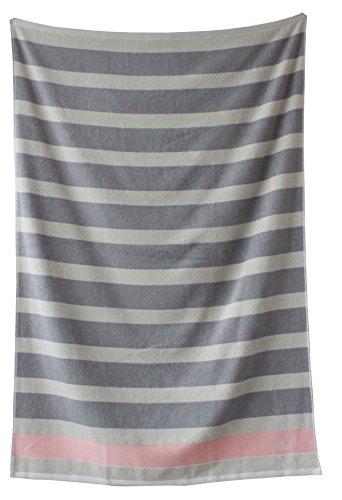 Littoral handdoek, katoen, beige/grijs, 30 x 30 x 1 cm