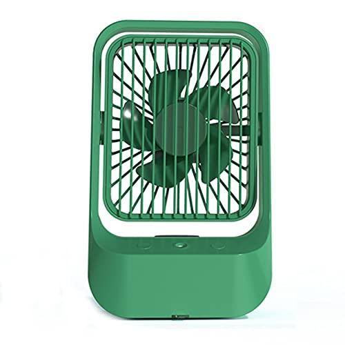 KILOL Ventilador De Aerosol Refrigerado por Agua USB, Refrigeración Silenciosa De Escritorio Y Ventilador De Humectación, Batería Incorporada De 1200Mah Y 370 Ml De Tanque De Agua Grande,Verde