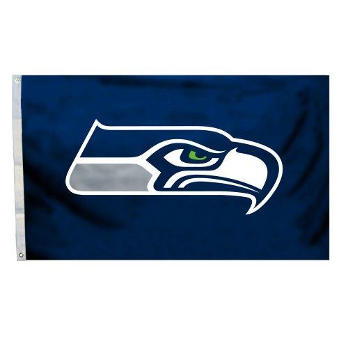 Fremont Die NFL Flagge mit Ösen, 3 x 1,5 m, Polyester, Seattle Seahawks, 3' x 5'
