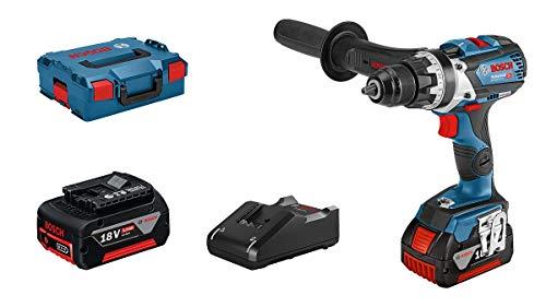 Bosch Professional 18V System GSR 18V-110 C - Atornillador a batería (110 Nm, Ø máx. tornillo 12 mm, conectable, 2 baterías x 5,0 Ah, en L-BOXX)