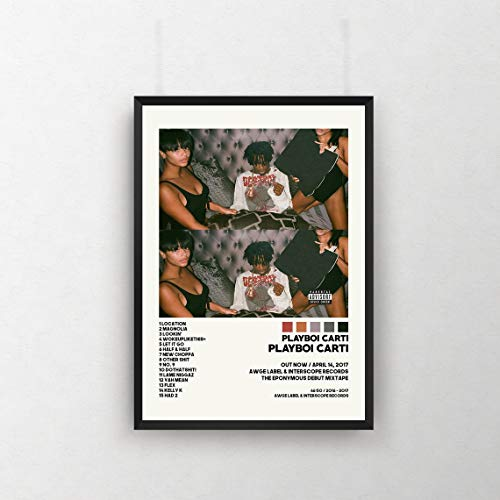 Ca.ti Posters - Play_boi Cati Poster, Play_boi Ca.ti Tracklist Album Cover Poster - Wall Art for Fan, Music Lovers - 11x17 16x24 24x36 Inch (No Frame)
