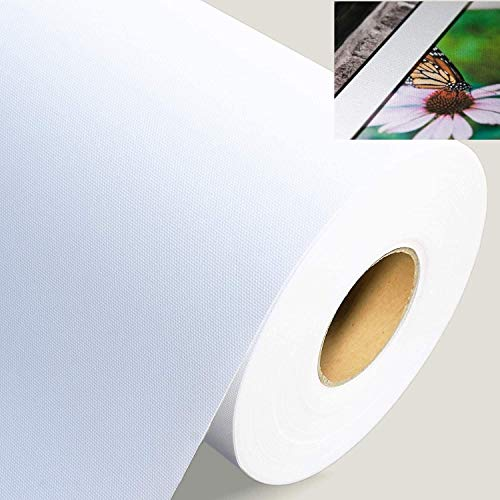 GoGoArt - Premium Polyester wide format Inkjet Matte Canvas roll Printable for Epson Canon HP printing 4 Size Available (24 inch x 60 ft)