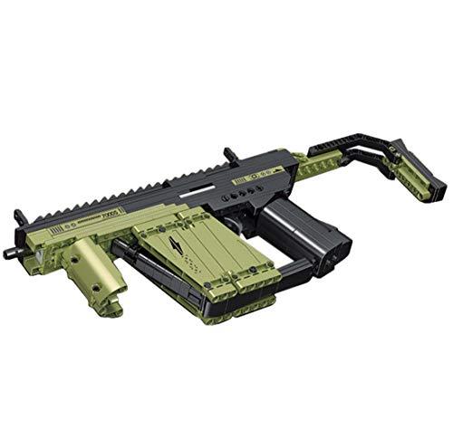 Seasy Technik Gewehr Bausteine Bausatz, 319 Teile Vector Pistole Modell mit Schussfunktion, Kompatibel mit Lego