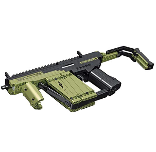 Likecom Technic Submachine Gun Building Blocks, 319 Pieces Mechanical Weapon Blaster Military Building Set, Compatible with Lego