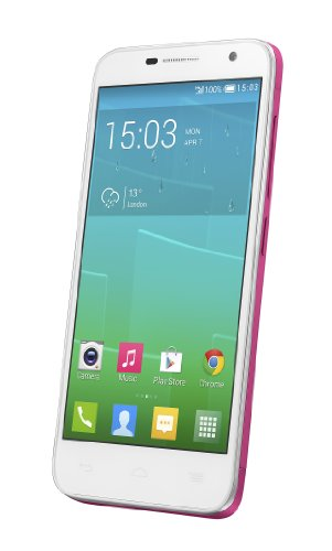 Alcatel Onetouch Idol 2 Mini Dual-SIM 11.4cm (4.5 Zoll), 8GB, 1.2 GHz Quad-Core, 1GB RAM, pink