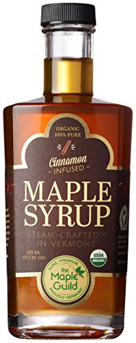 Maple Guild Organic Cinnamon Stick Infused Vermont Syrup 127 Ounce