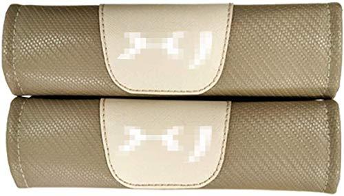 Cinturino in fibra di carbonio in fibra di carbonio riscaldata con fibra di carbonio Tracolla a tracolla 2 pezzi Cintura per sedile auto...