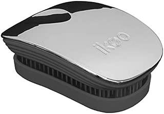 Ikoo Pocket Detangling Hair Brush - Black/Oyster Metallic