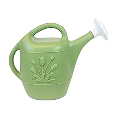 Union 63168 Watering Can with Tulip Design, 1 gallon, Sage Green