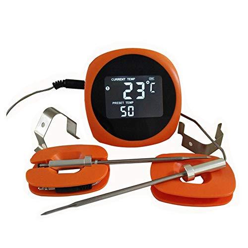 Termómetro digital para carne de doble sonda, termómetro para cocinar alimentos, termómetro inalámbrico Bluetooth para ahumador, parrilla, horno, barbacoa, elaboración casera, termómetro para vino con