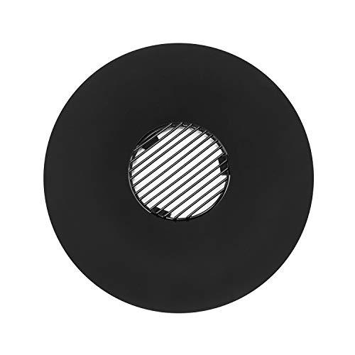 blumfeldt Heat Disc Plancha Circular con Parrilla - Diámetro de 57 cm, Plancha esmaltada, Parrilla de Acero, Superficies Lisas, Preparar Salchichas, filetes, brochetas de Verduras o Queso, Negro