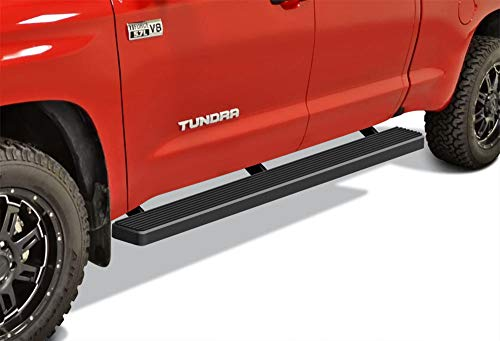 APS iBoard Running Boards 5 inches Matte Black Compatible with Toyota Tundra 2007-2021 Double Cab (Nerf Bars Side Steps Side Bars)