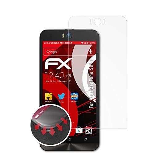 atFolix Schutzfolie passend für Asus ZenFone Selfie Folie, entspiegelnde & Flexible FX Bildschirmschutzfolie (3X)