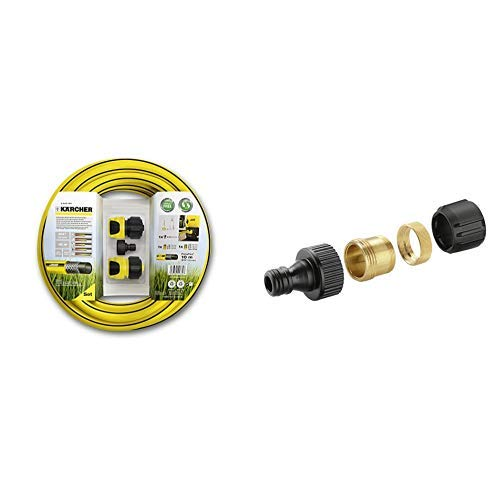 Kärcher 2.645-156.0 Schlauchset (geeignet für Hochdruckreiniger) & 2.645-010.0 Hahnanschluss (geeignet für Innenarmaturen)