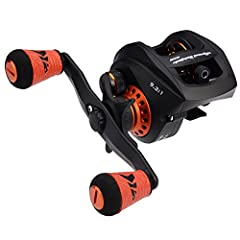 High Speed 9.3:1 Gear Ratio – The NEW KastKing Speed Demon Pro baitcaster fishing reel is one of the fastest baitcasting reels in the fishing tackle world with 9.3:1 gear. Blazing speed with precision matched manganese brass gears cut using a Japanes...