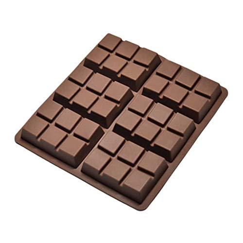 JYDQM 6 Celular Medio Molde Molde Bar Candy Hielo Cubo Maker Moldes Accesorios de Cocina Molde Profesional Molde de Silicona Moldeos de Pastel