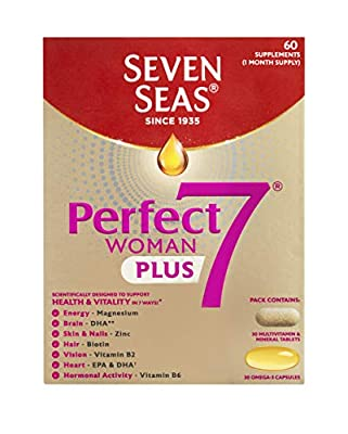 Seven Seas Perfect7 Woman, Multivitamin and Mineral Tablet plus Omega-3 capsule, Duo Pack, 30 day supply