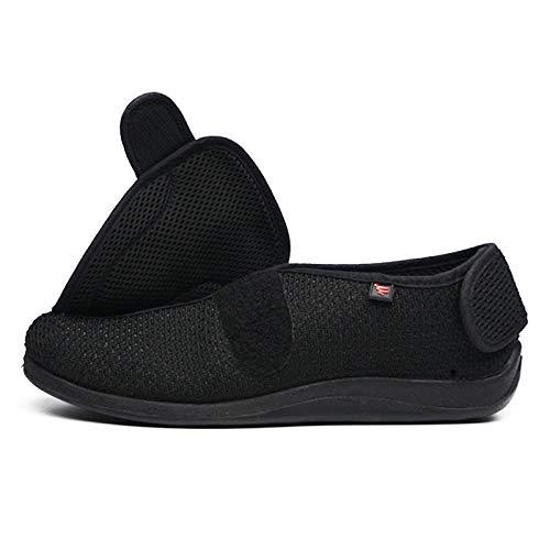 bjyxszd Pantuflas diabéticas para Hombres y Mujeres, Poste mágico de Primavera y otoño, Puedes Abrir los Zapatos de Tela Anchos, Zapatos Suaves y cómodos sanos.-Despertarse_42