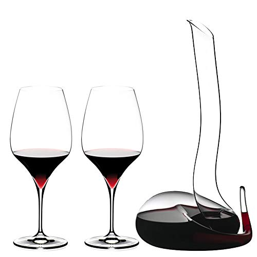 YONGMEI Wine Glass - Handmade Combination Red Wine Glass (Color : Clear)