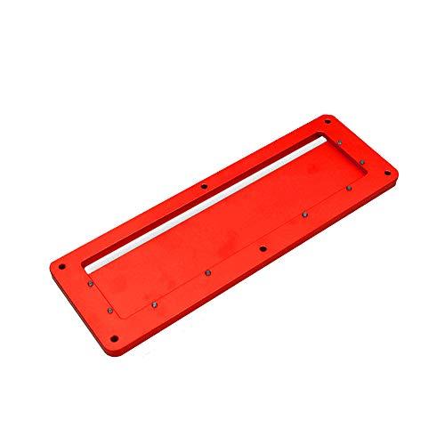 KKmoon afdekplaat voor tafelzagen, elektrische cirkelzaag, flip-flop legering van aluminium met flip-floor afdekplaat speciaal geïntegreerd, 45-90 graden