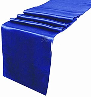 mds Pack of 25 Wedding 12 x 108 inch Satin Table Runner for Wedding Banquet Decoration- Royal Blue