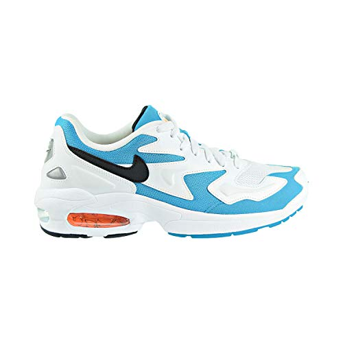 Nike Air Max2 Light, Scarpe da Atletica Leggera Uomo, Multicolore (White/Black/Blue Lagoon/Laser Orange 100), 47 EU