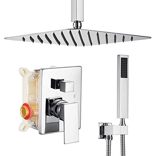 Columna de Ducha con Termostato Sistema de Ducha con Termostato y Grifo de Bañera Barra Conjunto de Ducha de Acero Inoxidable