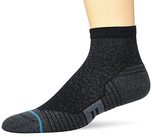 Stance Men's Quarter Sock Run QTR ST, black, Small