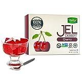 Bakol Jel Dessert - All Natural Vegan Dessert Mix - Kosher - Halal - No Artificial Sweeteners Flavors or Colors - Cherry Flavor