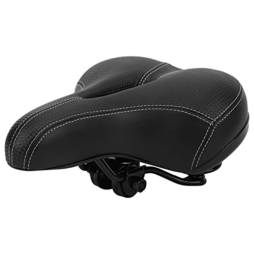 Alomejor Bike Seat Cover Mountain Bike Padded Saddle Comfort Hollow Saddle Cushion Wide Breathable Seat Pad for Mountain Bicycle