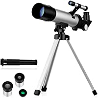 Oqxh Kids' Telescope with Two Eyepieces, Tabletop Tripod