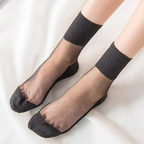 BHG Sexy Netzsocken mit Spitze, transparent, dehnbar, elastisch, lustig, Glassocken, Netzgarn, dünne Damensocken Gr. Einheitsgröße, 4