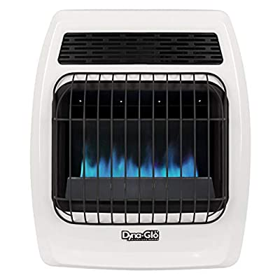 Dyna-Glo BFSS10LPT-2P 10,000 BTU Liquid Propane Blue Flame Thermostatic Vent Free Wall Heater, White
