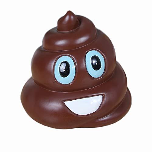 LYLY Sparschwein Smiley-Emoji-Spardose, Kackhaufen, Emoji-Spardose, Kunstharz, Münze, Sparschwein, lustiges Geschenk für Kinder, Scherzartikel, lustiges Geldglas (Farbe: B)