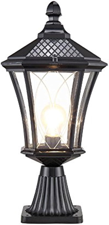 Welampa Outdoor-Landschaft europischen Stil Spalte Lampe Vintage Türsteher Sule Licht Antike Wasserdichte Landschaft E27 Tor Lampe Beitrag Laterne Wohnhof Garten Lampe Terrasse Licht