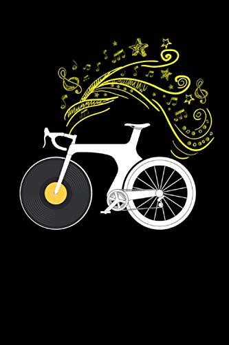 Notizbuch: Musiknoten Fahrrad Musiker Fahrradmusiker Fahrradkunst Biker Notizbuch DIN A5 120 Seiten für Notizen Zeichnungen Formeln | Organizer Schreibheft Planer Tagebuch