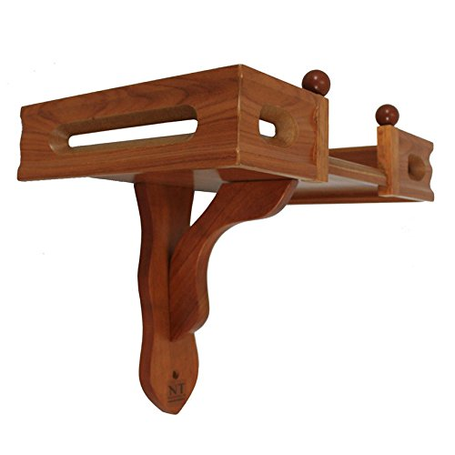 NT furniture Buddha Altar Shelf Stand Wooden Wall Rack Ming, (10x15x11 inches, Teak)