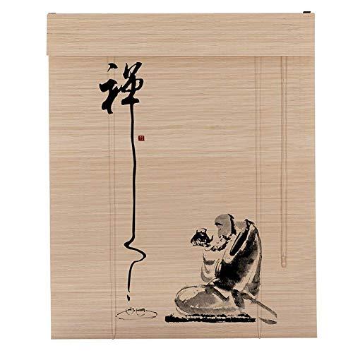 LJL Hochwertige Bambus-Vorhang Bambus Rollos Vertikal Jalousien Bambus Vorhang, 100x200cm