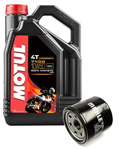 MOTUL Duo Servicio Cambio Aceite Motos 7100 4T 10W-50 Sintetico 4 litros + Filtro Aceite OC574