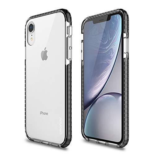 Capa protetora Impact Pro iPhone XR, TPU flexível nas extremidades e ajuda na absorção de impactos, Transparente/Preto, IPIXRB, Geonav
