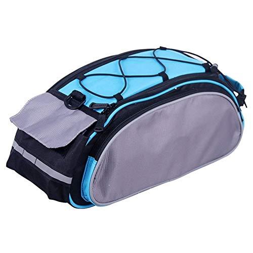 Bolso Bicicleta 13L bolsa del Pannier del estante de bicicletas del tronco del asiento trasero de la cesta del estante de la bolsa de equipaje Ciclismo hombro del bolso 14541 ( Color : Light Blue )