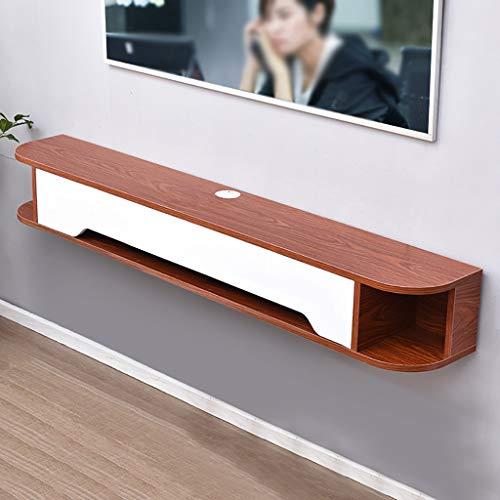 Tablettes flottantes Massivholz-TV-Schrank Wandmontierter einfacher und modernes hängendes wand schlafzimmer nordic set-top kasten zahnraum, wand hängen wand hintergrund wand tv cabinet wohnzimmer ein